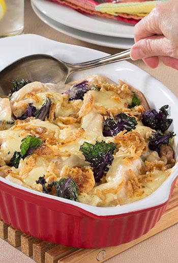 Creamy Chicken Kale Casserole