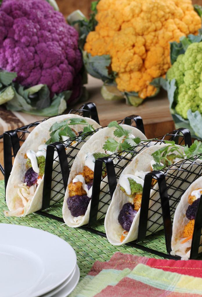 Carnival Cauliflower Tacos Salad Savoy