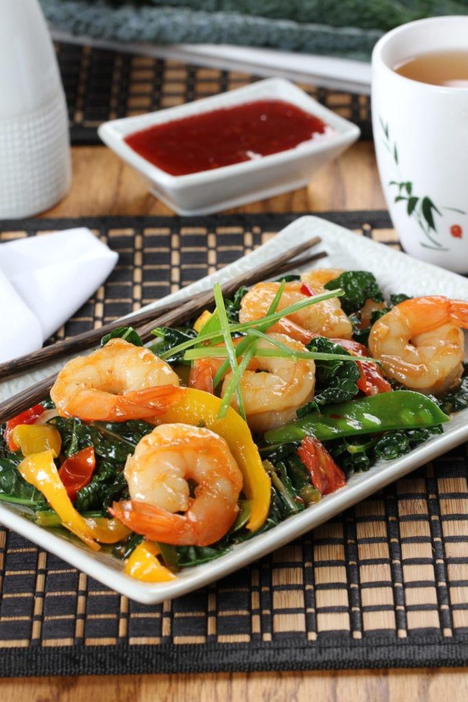 Tasty Tuscany Shrimp Stir-Fry